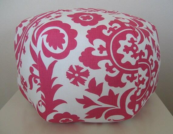 """Suzani 18"""" Ottoman Pouf Floor Pillow"""