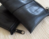 Zipper Pouch, Recycled Bike Tube, Untouchable, set of two
