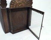 RESERVED for Mary. Copper and Glass Mexican Display Cases.