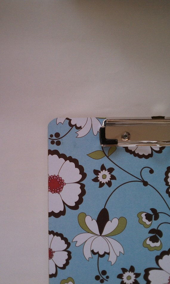 New Winding Flowers Double Sided Decorated Clip Board