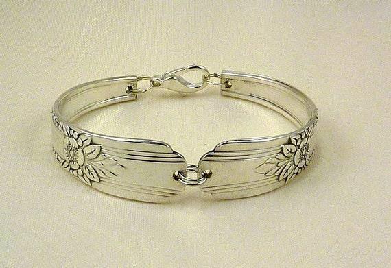 Spoon Bracelet, Silver - Flatware Jewelry, Vintage, Antique, Mt. Vernon AKA LaRose