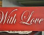 Primitive sign, Bless Home with Love & Laughter