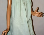 Refreshingly Light Minty Green Vintage 1960s w/Tags Pale Green Perma Prest Pima Charm 2pc Short Gown & Robe