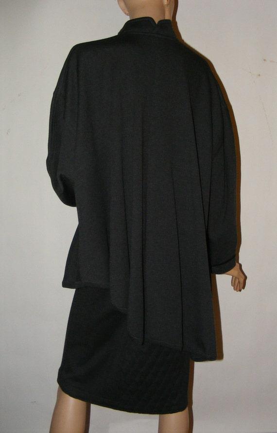 Vintage Avant Garde 1980s Jacques Molko Paris Asymmetrical Swing Jacket & Skirt 12