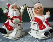 Vintage Salt and Pepper Shakers: Lefton Santa and Mrs. Clause Salt & Pepper Shaker Set