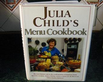 Vintage Julia Child's Menu Cookbook - Julia Child - Menu Cookbook - Julia Child's Cookbook - Recipe Book- Julia Child Recipes - Cookbook