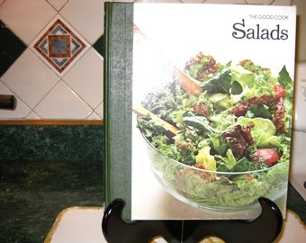 Vintage The Good Cook Salads Cookbook - The Good Cook Series - Instructional Cookbook - Time Life Books - Salads Cookbook - Vintage Cookbook