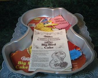 Vintage Wilton Big Bird Cake Pan - Wilton Cake Pan - Big Bird Cake Pan - Wilton - Sesame Street Pan - Wilton Pan - Birthday Cake Pan