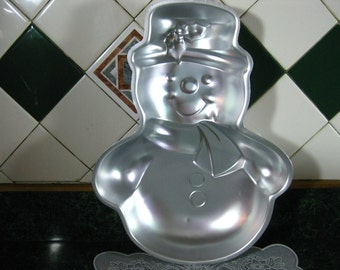 Vintage Wilton Cake Pan: Wilton Snowman Cake Pan