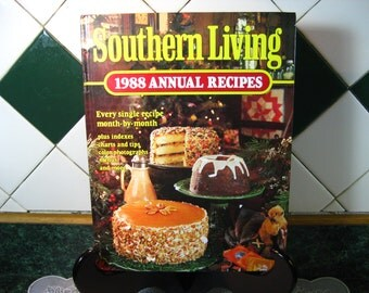 Southern Living 1988 Annual Recipes Cookbook - Vintage Cookbook - Southern Living Annual Recipes Cookbook - Southern Living Book