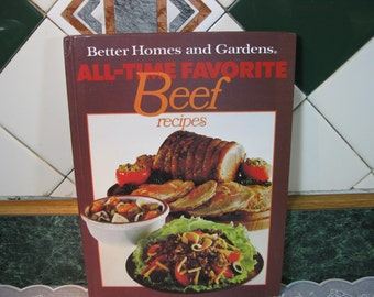 Vintage Cookbook: Better Homes and Gardens All - Time Favorite Beef recipes Cookbook