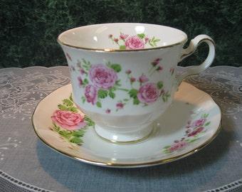 Vintage Avon Pink Roses Teacup & Saucer - Vintage Teacup - Teacup - Vintage Avon Teacup - Avon Teacup - Floral Teacup - Teacup and Saucer