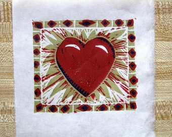 It's your Valentine! Shining Heart -- Original reduction print