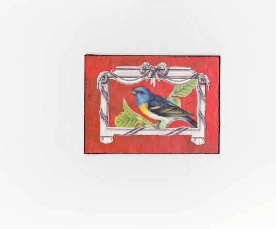 ACEO/ATC  Bird collage