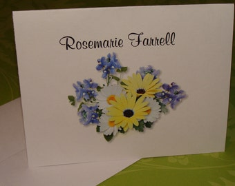 Personalized Note Cards Thank You Cards Beautiful Personalized Notes or Invitations for Bridal Shower or Wedding Gift
