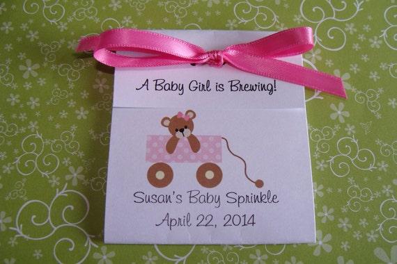 baby shower sprinkle tea party favors tetley tea 1st birthday favors