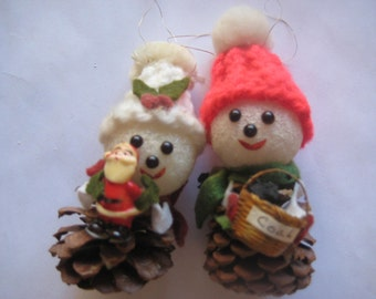 Vintage Pine Cone Handmade Ornaments