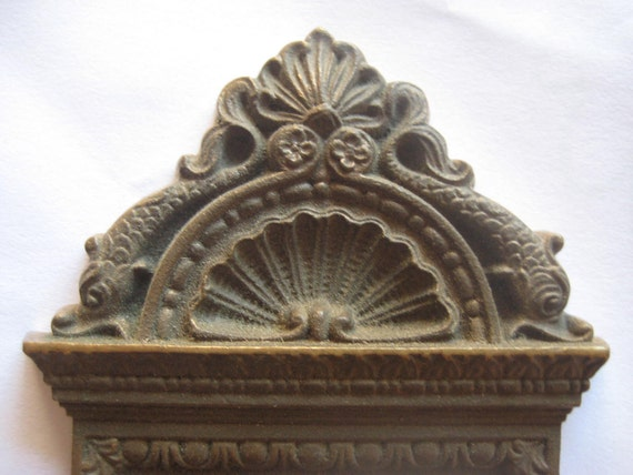 Heavy Antique Brass Door Plate