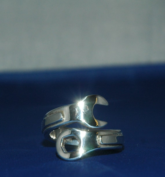 sterling silver s large wrench ring