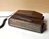Vintage Telephone Clock Radio 1970s