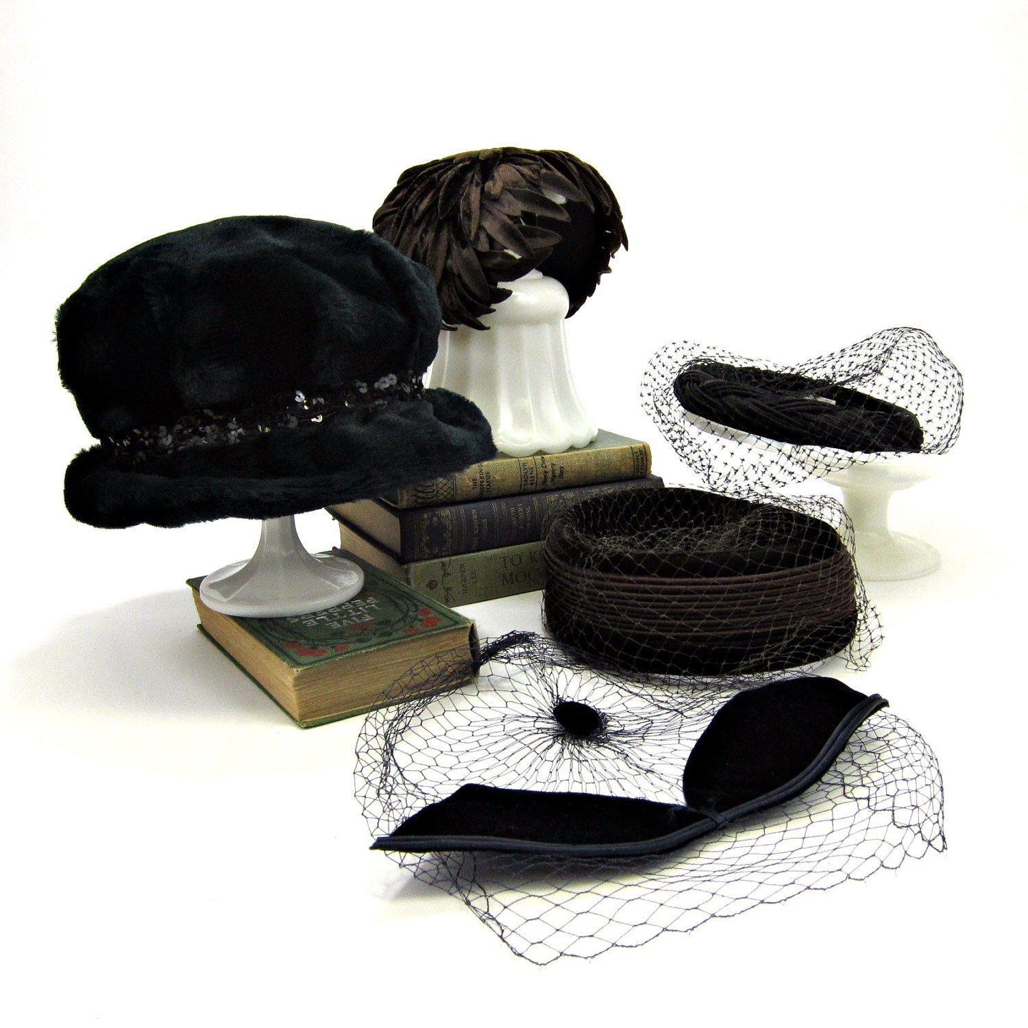 five vintage s hats 1950s and 1960s instant