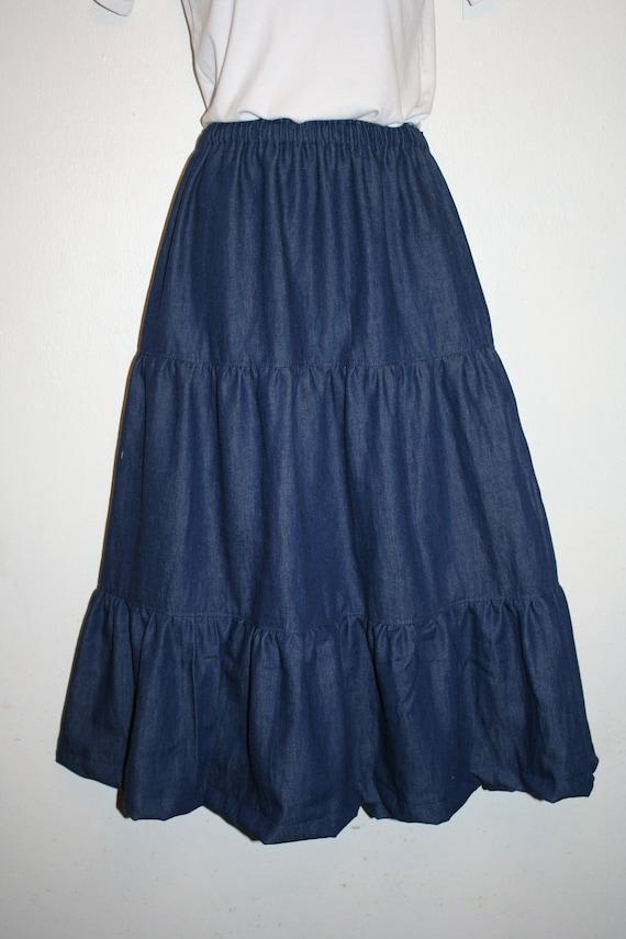 Denim Broomstick Skirt 41