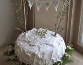 Baby Baker Banner, cake topper, baby blue, cake banner,