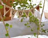 Classic Love Baker Banner wedding cake topper