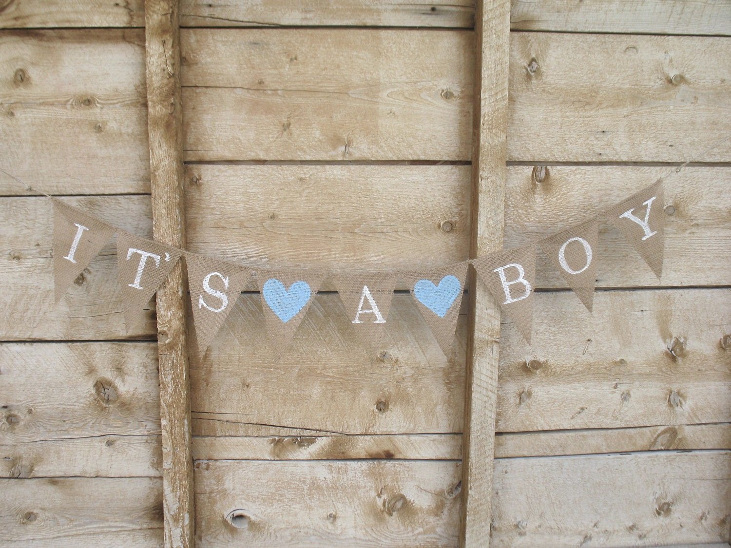 it 39 s a boy burlap banner in white lettering baby by atcompanyb