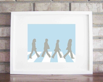 Printable Beatles Collections Abbey Road - INSTANT DOWNLOAD {5x7, 8x10 and 11x14} in 4 different colors