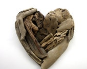 """driftwood heart """"Valentine """" made from natural driftwood ... 18x20 cm...""""I love you""""...perfect for your coastal home or wedding"""