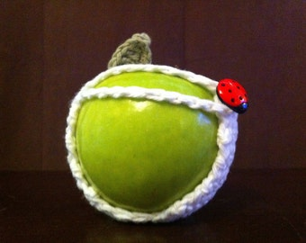 Apple Cozy with Ladybug & Leaf