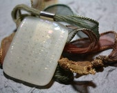 Ivory Treasures Fused Glass Pendant