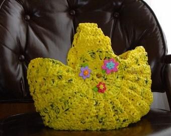 Plastic Bag Basket Purse