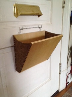 Mail Slot Catcher Smaller Pouch Basket Box Thingeemabob