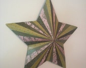 small star wall hanging - green starburst pattern