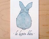 Le Lapin Bleu - Mini Archival Print