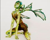 OOAK Art Doll Paper Clay Dragon Girl - Amalia IADR No 441095