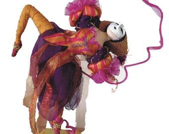Carnivale cloth art doll, ADO team, IADR