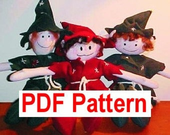 PDF Sewing Pattern Razzel N Friends 15 inch Christmas Elf DIY free shipping