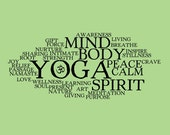 16x20 Art Print Collage Poster - Yoga Words
