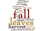 Fall Word Cloud Home Decor Seasonal Art Print