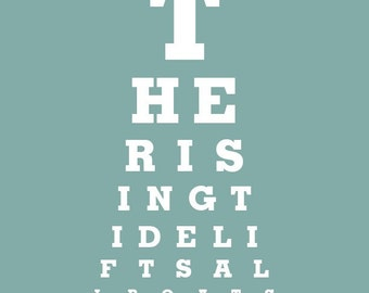 "Home Decor ""The Rising Tide Lifts All Boats"" Eye Exam Chart Print"