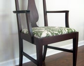 Furniture Vintage Chair Modern with Aviary Seat in Moss