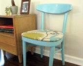 SALE: Vintage Modern Chair Aqua