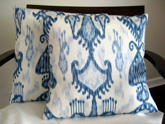 "Pillow Cover: 18"" Robert Allen Ikat Pillow Cover"