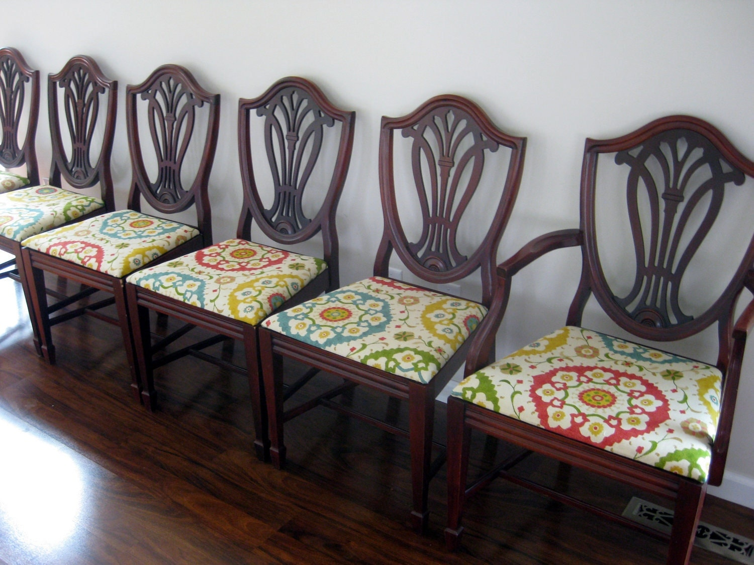 Dining Chair Amazing set of six shield back chairs