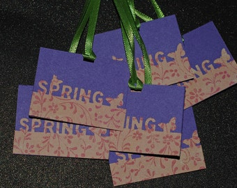 S A L E- 3 Hello Spring gift tags