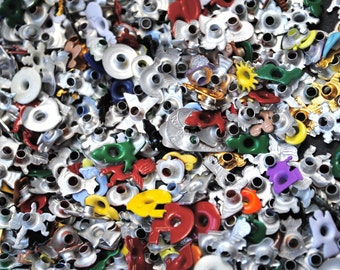 S A L E - 50 eyelets -EVERY SHAPE - mixed lot for Scrapbooking