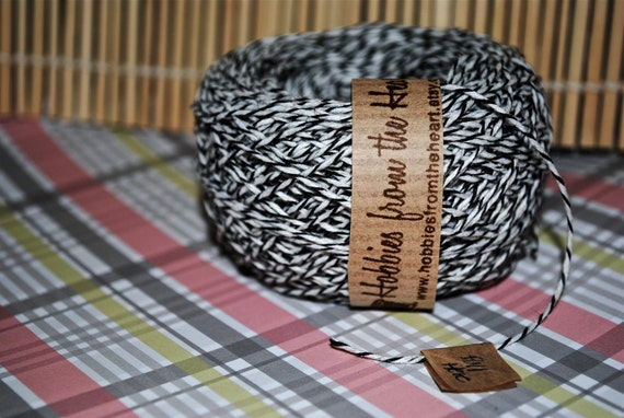 Black and White Twine- 100 yards (300 feet)-Center pull ball